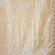 mistythreads_fabric_Harmony_yellow_circle_motifs_white_background