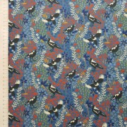 mistythreads_fabric_TakingFlight_7083-01_Magpies_Wildflowers_Blue_background
