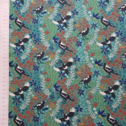 mistythreads_fabric_TakingFlight_7083-02_Magpies_Wildflowers_Green_background