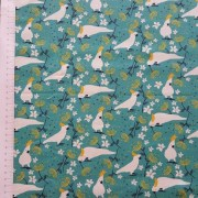 mistythreads_fabric_TakingFlight_7083-07_Cockatoos_Green_background